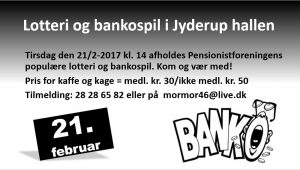 Lotteri og bankospil i Jyderup hallen