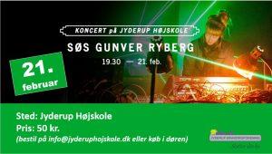 Koncert: Søs Gunver Ryberg på Jyderup Højskole