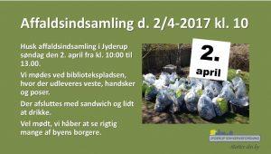 Affaldsindsamling d. 2/4-2017 kl. 10