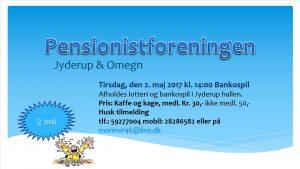 BANKO i Pensionistforeningen i Jyderup Hallen