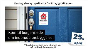 GØR DIT KVARTER TRYGT - invitation til borgermøde i Holbæk