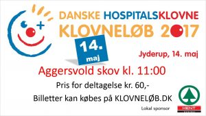 Klovneløb i Jyderup - til støtte for Danske Hospitalsklovne - d. 14/5-2017, kl. 11