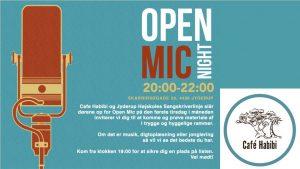 """""""Open Mic"""" på Café Habibi hver den 1. tirsdag i måneden - kom og afprøv dit talent"""