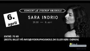 Koncert med Sara Indrio på Jyderup Højskole
