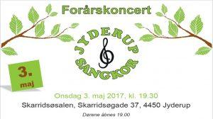Kom til forårskoncert med Jyderup sangkor