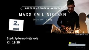 Elektronisk koncert med Mads Emil Nielsen på Jyderup Højskole