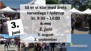 """Torvedag i Jyderup kl. 9:30-14:00 - 3. juni - tema: """"Børn og dyr"""""""
