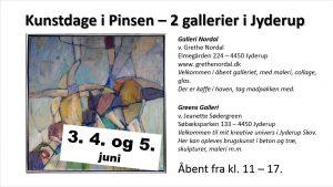 Kunstdage i pinsen - 2 gallerier i Jyderup