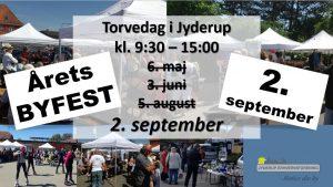 BYFEST i Jyderup d. 2/9, kl. 9:30 -23:59 - Kom og vær med til byens årlige fest