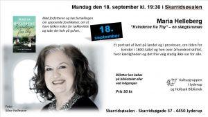 Forfatterbesøg: Maria Helleberg på Jyderup Bibliotek