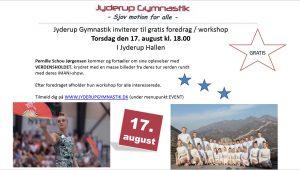 Jyderup Gymnastik inviterer til gratis foredrag / workshop i Jyderup Hallen