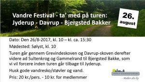 Vandre Festival - ta' med på turen: Jyderup - Davrup - Bjergsted Bakker