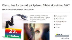 Filmstriber for de små på Jyderup Bibliotek