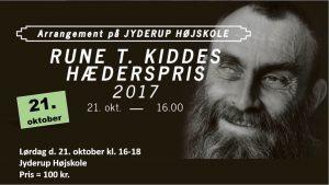 Rune T. Kiddes hæderspris uddeles på Jyderup Højskole