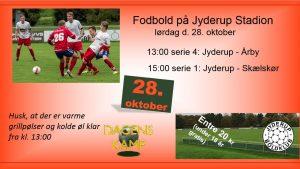 Fodboldkampe på Jyderup Stadion - kig forbi og støt de lokale hold!