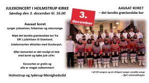 Julekoncert i Holmstrup Kirke med Aavaat koret