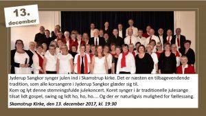 Jyderup Sangkor synger julekoncert i Skamstrup Kirke