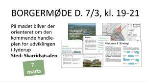 Borgermøde om handleplanen for Jyderups udviklingsprojekter @ Skarridsøsalen | Jyderup | Danmark