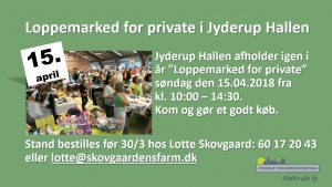 Loppemarked for private i Jyderup Hallen