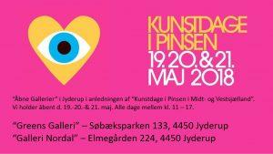 """Åbne Gallerier i Jyderup/Mørkøv i anledningen af """"Kunstdage i Pinsen i Midt- og Vestsjælland"""""""