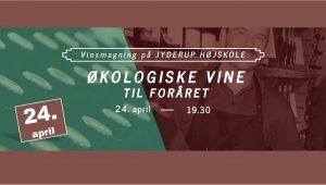 Vinsmagning på Jyderup Højskole -Økologiske vine til foråret