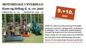 MOTORDAGE I SVEBØLLE 9.-10. juni 2018
