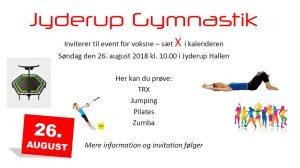 Jyderup Gymnastik inviterer til voksen event