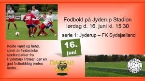 Fodbold på Jyderup Stadion - serie 1: Jyderup – FK Sydsjælland
