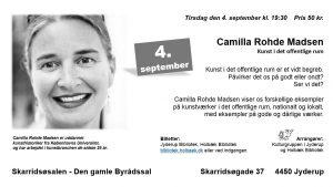 """Foredrag med Camilla Rohde Madsen """"Kunst i det offentlige rum"""""""