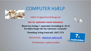 COMPUTER HJÆLP til ældre