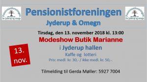 Pensionistforeningen inviterer til modeshow