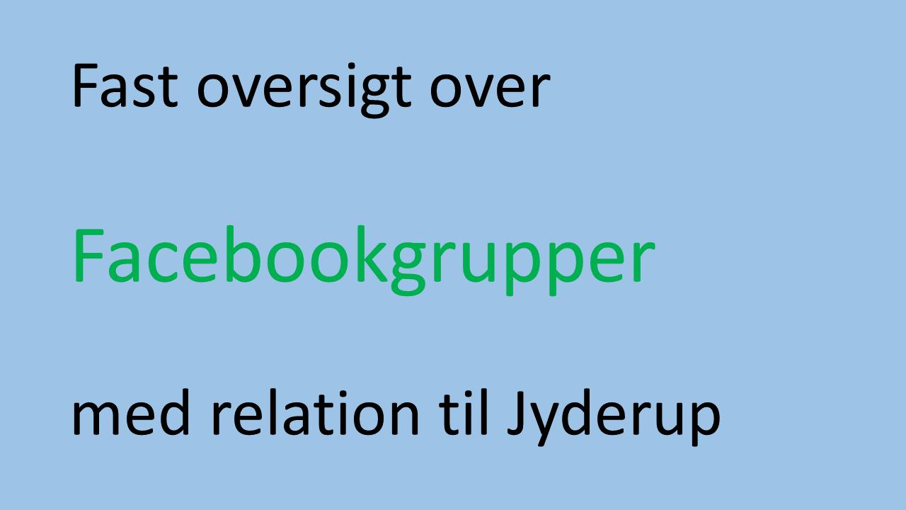 Facebookoversigt