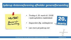 Generalforsamling i Jyderup Antenneforening