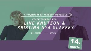 Forfattermøde: Line Knutzon og Kristina Nya Glaffey