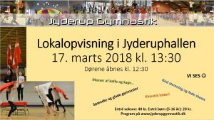 Gymnastikopvisning i Jyderup Hallen