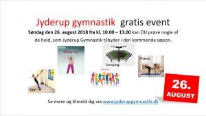 Jyderup Gymnastik inviterer til gratis voksen-event