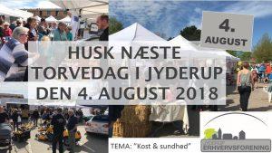 """Program for torvedagen d. 4. august i Jyderup. Tema: """"Kost & Sundhed"""""""