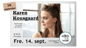 Koncert med sanger og sangskriver Karen Kousgaard