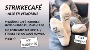 STRIKKECAFÉ I CAFÉ FORSINKET - HVER ONSDAG @ Café Forsinket | Jyderup | Danmark