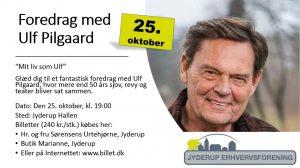 Foredrag med Ulf Pilgaard d. 25/10-18 i Jyderup Hallen