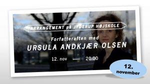 Forfatteraften med URSULA ANDKJÆR OLSEN