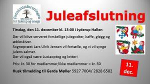 Pensionistforeningen inviterer til juleafslutning