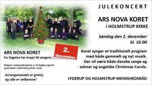 Julekoncert ARS NOVA KORET i Holmstrup Kirke