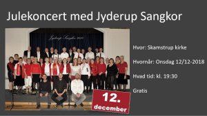 Julekoncert med Jyderup Sangkor