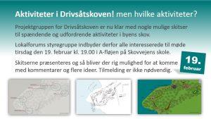 Møde om Drivsåtskoven - Nu med billeder @ Skovvejens skole, afdeling Jyderup | Jyderup | Danmark