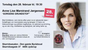 "Mød Anne Lise Marstrand Jørgensen, forfatter til ""SORGENS GRUNDSTOF"""