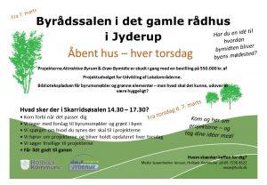 Åbent hus om Attraktive Byrum og Grøn Bymidte @ Skarridsøsalen | Jyderup | Danmark
