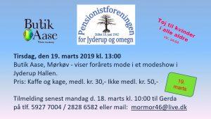 Pensionistforeningen holder modeshow i Jyderup Hallen