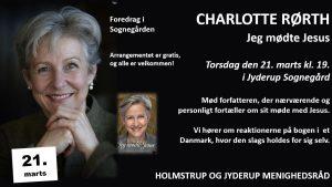 Mød forfatteren CHARLOTTE RØRTH