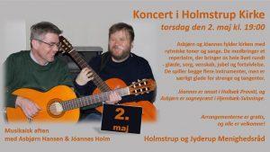 Koncert i Holmstrup kirke med Hansen & Holm @ Holmstrup Kirke | Jyderup | Danmark